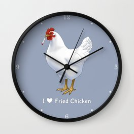 Funny Fried Chicken Pot Smoking White Hen Wall Clock