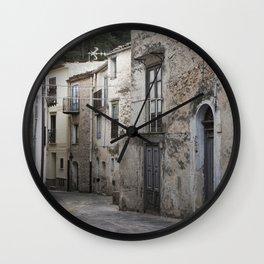 Sicilian Alley in Caltabellotta Wall Clock