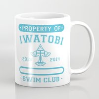 iwatobi Mugs featuring Free! Iwatobi Swim Club - Athletic  by Cup of June