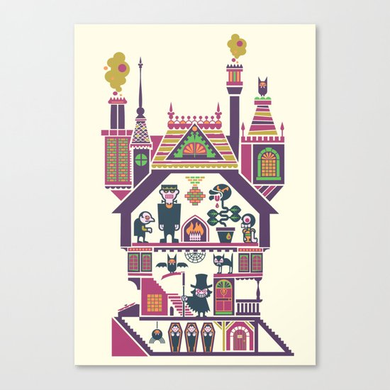 House Of Freaks Canvas Print