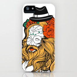 Bearded Women Girl iPhone Case