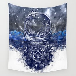 galaxy landscape Wall Tapestry