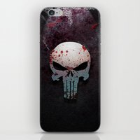punisher iPhone & iPod Skins featuring Punisher Skull  by Electra