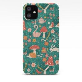 Wandering in Wonderland - Teal iPhone Case