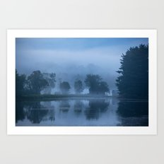 Peaceful Blue Art Print