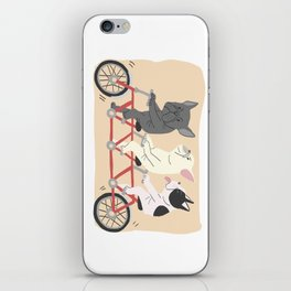 tandem bike iPhone Skin