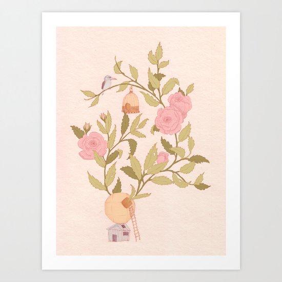 RoseBird Art Print