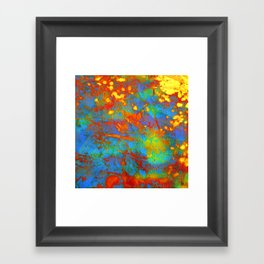 bright abstract leaves Framed Art Print