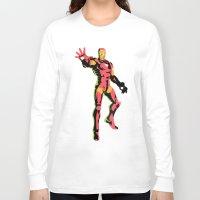 iron man Long Sleeve T-shirts featuring iron man  by mark ashkenazi
