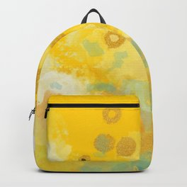 Abstract autumn with gold and warm light Backpack