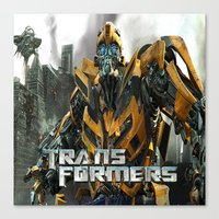 transformers Canvas Prints featuring Transformers by giftstore2u