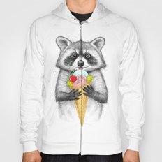 raccoon with ice cream Hoody