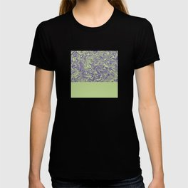 Liquid Swirl - Lettuce Green and Ultra Violet T-shirt