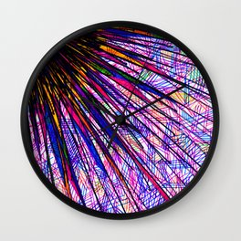 Stained Glass Abstract Wall Clock