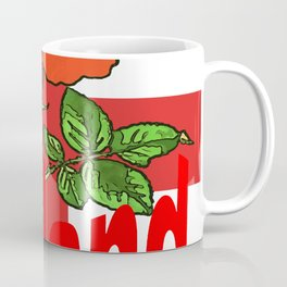 St George Flag With English Rose For England Fans Coffee Mug