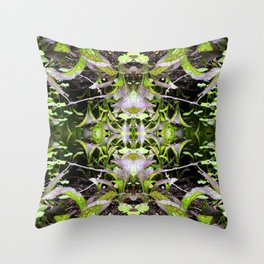 Mustard Greens & Sorrel Garden Throw Pillow