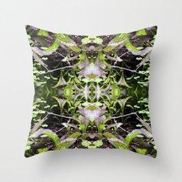 Mustard Greens & Sorrel Garden Throw Pillow
