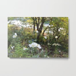 Flowers along the River Metal Print