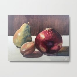 Fruits and Veggies Still Life Metal Print