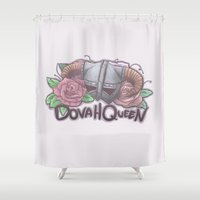 skyrim Shower Curtains featuring DovaQueen by Joana Shino