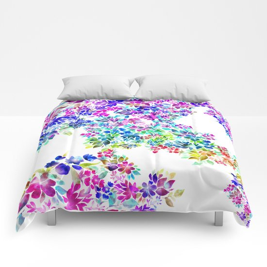 Watercolor Lei Comforters