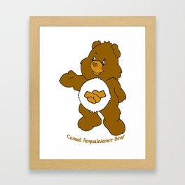 Casual Acquaintance Bear Framed Art Print