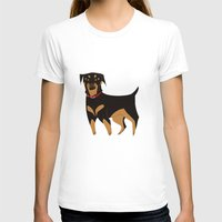 rottweiler T-shirts featuring Rottweiler by Reimena Ashel Yee