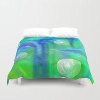 bubbles Duvet Covers featuring Bubbles by Roger Wedegis