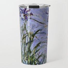 Claude Monet  -  Iris Mauves Travel Mug