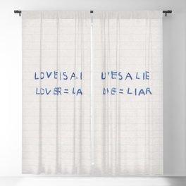 Love Is a Lie Basquiat Diary Blackout Curtain