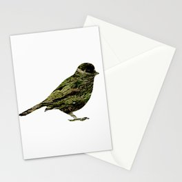 olive tree sparrow Stationery Cards