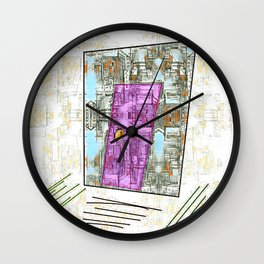 Enter at Your Own Risk Doorway to a New World Wall Clock