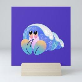 Ocean wave shells Mini Art Print