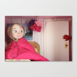 The monster behind the door Canvas Print