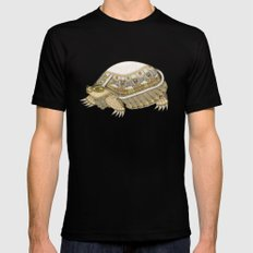 Turtle Black MEDIUM Mens Fitted Tee