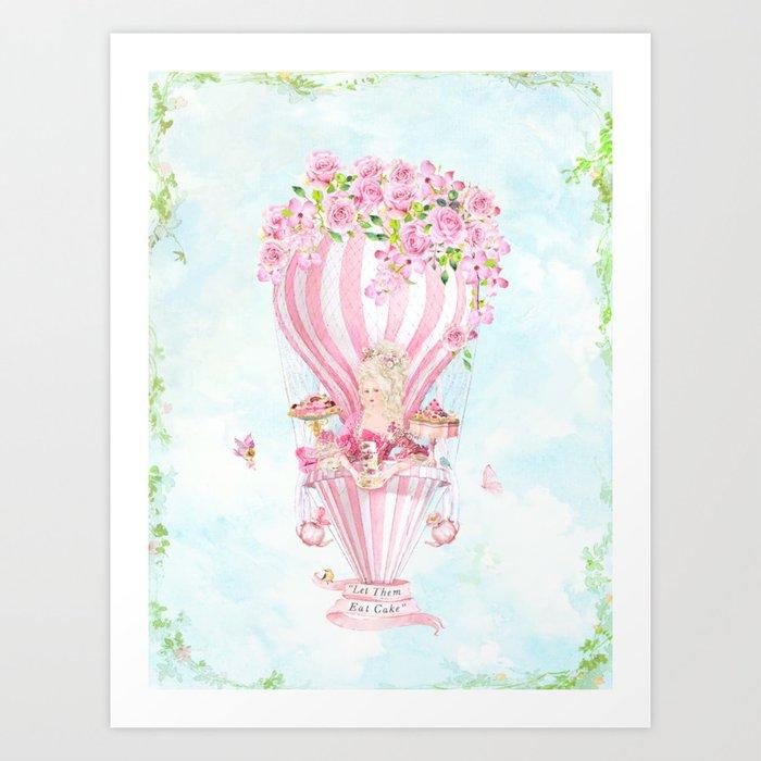 Marie Antoinette High Tea Art Print