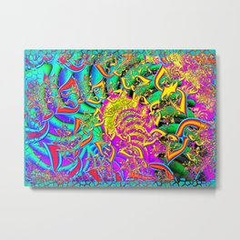 Like Candy Psychedelic 3D Abstract Metal Print