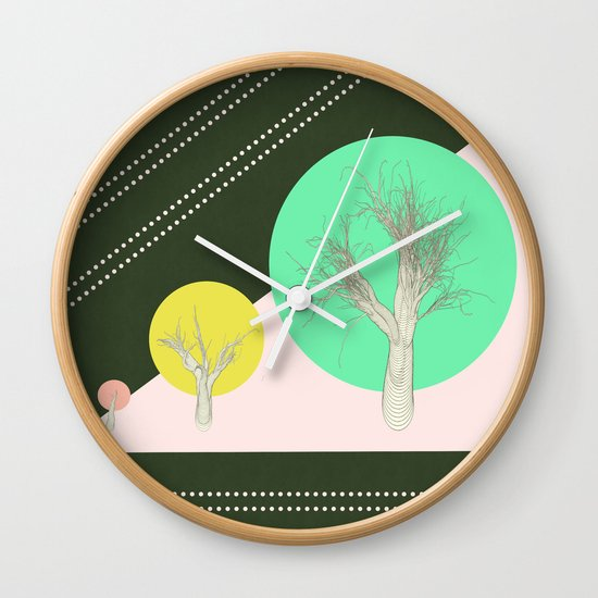 In my world forests are geometric Wall Clock