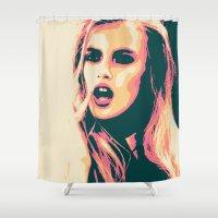 bitch Shower Curtains featuring Bubblegum Bitch by victorygarlic - Niki