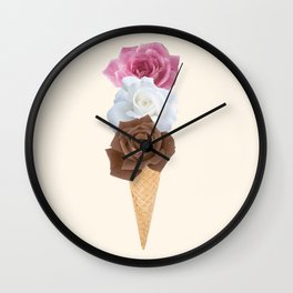 Ice Cream Bloom Wall Clock
