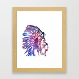 Space Indian Framed Art Print