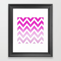 PINK CHEVRON FADE 2 Framed Art Print