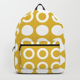 Mid Century Modern Circles And Dots Mustard Yellow Backpack