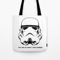trooper Tote Bags featuring Trooper by C Liza B