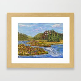 Meadow of Tranquility, Impressionism Landscape Framed Art Print