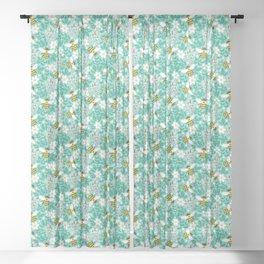 Blooms & Bees Sheer Curtain