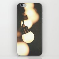 the lights iPhone & iPod Skins featuring Lights by Whitney Retter