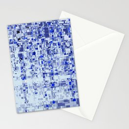 Abstract Architecture Blue Stationery Cards