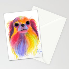 Nosey Dog Chihuahua ' TiLLY ToTS ' by Shirley MacArthur Stationery Cards
