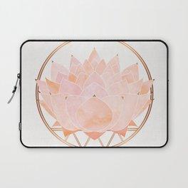 Blush Zen Lotus ~ Metallic Accents Laptop Sleeve